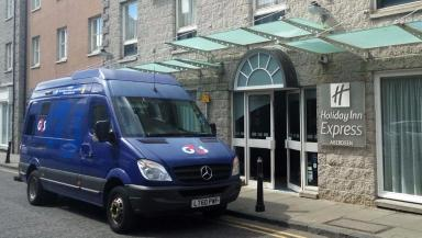Disturbance: Police arrested 16 Aberdeen and Maribor FC supporters at the Holiday Inn.