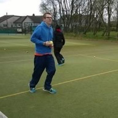 Ben Gray now takes part in running and tennis.