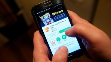 Grindr: Rowe met the men on the social networking app.