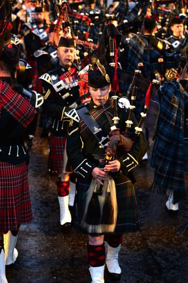 Overnight, 21-year-old Megan became the first Regular Army female piper to take on the prestigious role.
