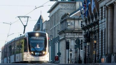 Trams: Plan to extend line.