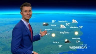 Weather: Sean Batty presents the new bulletin on STV.