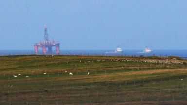Transocean Winner: Oil rig on its way past North Dell on Tuesday.
