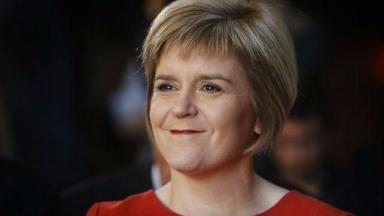 Voter appeal: SNP leader Nicola Sturgeon launched her party's campaign for next month's local government elections.