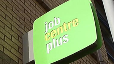 Job centre: One in four young men are out of work.