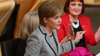 Support: Sturgeon has pledged to secure a future for the factory.