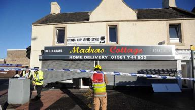 Fire: Thirty firefighters tackled the blaze at Madras Cottage.