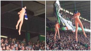 celtic fan charged with hanging blow up dolls at old firm game