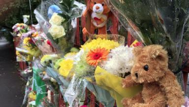 Tributes left for Lennon Toland.