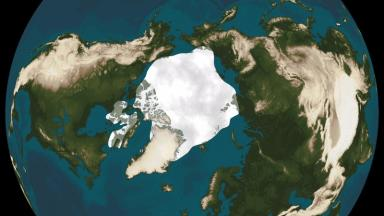 Thirty years ago the ice covered a much bigger area in summer.
