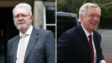 Brexit: Michael Russell (left) has urged David Davis to publish the papers.