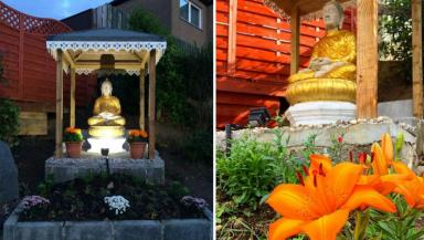 Theft: The Buddha statue was stolen from the Dhammapadia Temple in Edinburgh.