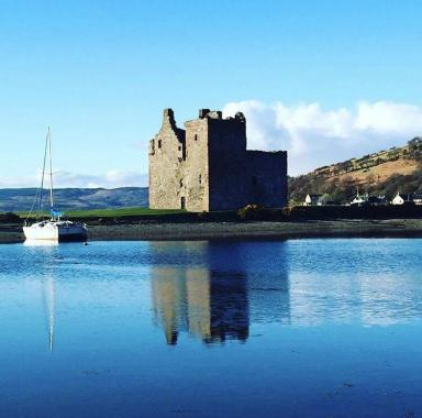 History: Lochranza castle is towards the north of the island.