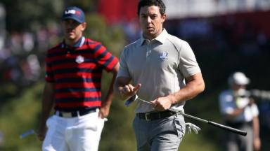 Rory McIlroy asked for one spectator to be removed