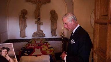 Charles at the final resting place of Princess Alice of Greece.