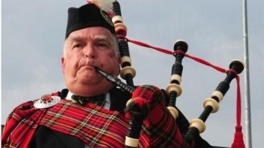 Disappointed : NZ officials have banned the bagpipes