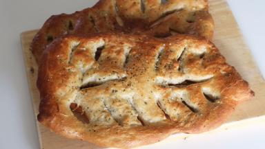Botanical Week - two leaf shaped fougasse