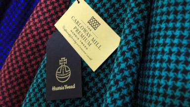 Harris Tweed: Genuine fabric made in the Hebrides (file pic).