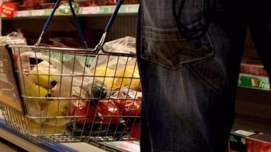 Theft: The supermarket has run out of shopping baskets.