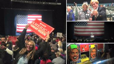 Trump rally: Thousands of Republicans packed the arena in Sterling Heights, Michigan.