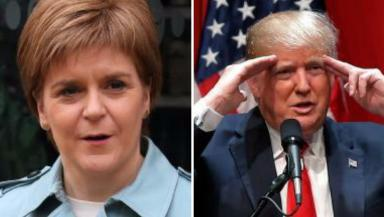 Congratulations: Nicola Sturgeon has told Donald Trump that America and Scotland share 'fundemantal values'.