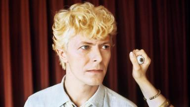 David Bowie: The star's eyes being measured for a Madame Tussauds waxwork