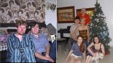1978-2011: Fraser has always loved celebrating Christmas with family.