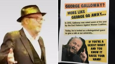 Image result for galloway glitter bombed