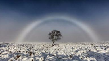 Fogbow: Melvin captured the image over Rannoch Moor.