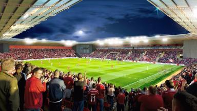 Kingsford: Artist's impression of new stadium.