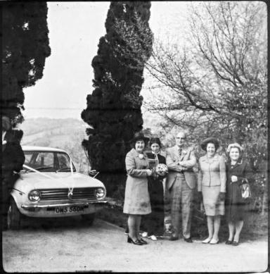Car: Austin Maxi gives a clue to the location.