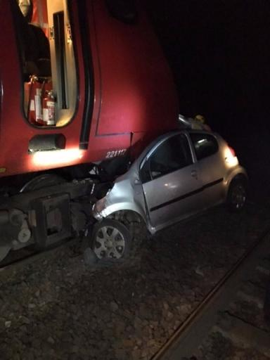 Train collision: Scene of train crash in South Lanarkshire (Rob Shorthouse).