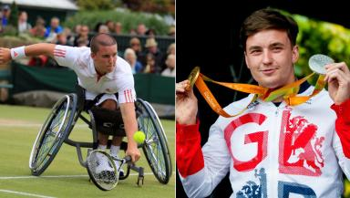 Paralympic hero: Reid in 2008, left, and 2016.