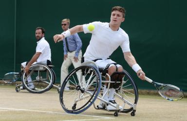 Gordon Reid: At Wimbledon in 2015.