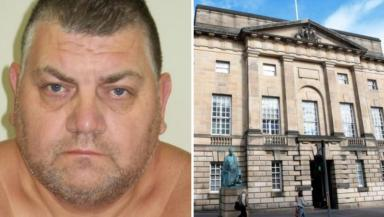 Jailed: Clifford Warde appeared at the High Court in Edinburgh.
