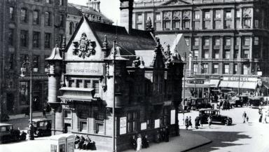 St Enoch: The iconic building, formerly the station ticket office.