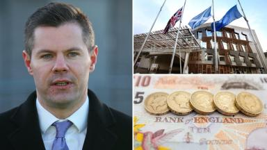 Borrowing: Derek Mackay was quizzed on his budget plans at Holyrood on Wednesday.