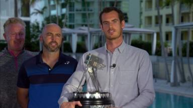 Andy Murray was presented the Sports Personalty of the Year Award in Miami.