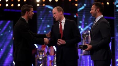 Duke of Cambridge presented Michael Phelps with the Lifetime Achievement Award.