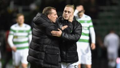 Debut delight: Brendan Rodgers was happy with Calvin Miller's first Celtic appearance.