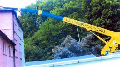 Machine: The crane was damaged in May 2011 incident.