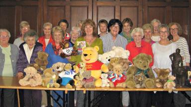 Women's Institute: Terregles members donate piles of teddies.