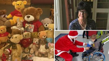 Teddies: Donations roll in for vulnerable children.
