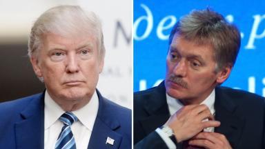 US President-elect Donald Trump and Russian presidential spokesman Dmitry Peskov.