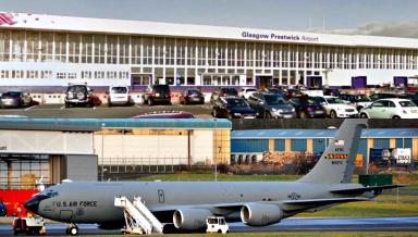 Prestwick Airport: Rise in military refuelling last year.