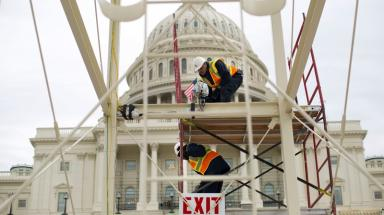 Preparations for the 'soft sensuality' of Mr Trump's inauguration are under way