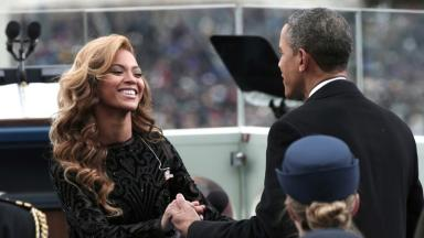 Beyonce performed at Mr Obama's second inauguration in 2013