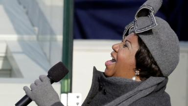 And Aretha Franklin performed at his first in 2009