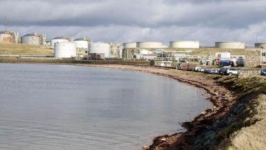 Oil: Sullom Voe played a major part in changing Shetland's economy.