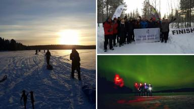 Arctic trek: 'Emotional' journey for parents who lost children.